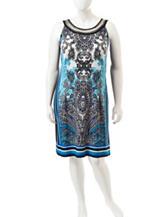 Studio 1 Plus-size Multicolor Paisley Dress
