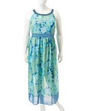 Studio 1 Plus-size Multicolor Paisley Print Maxi Dress
