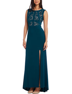 Morgan & Co. Illusion Lace Gown