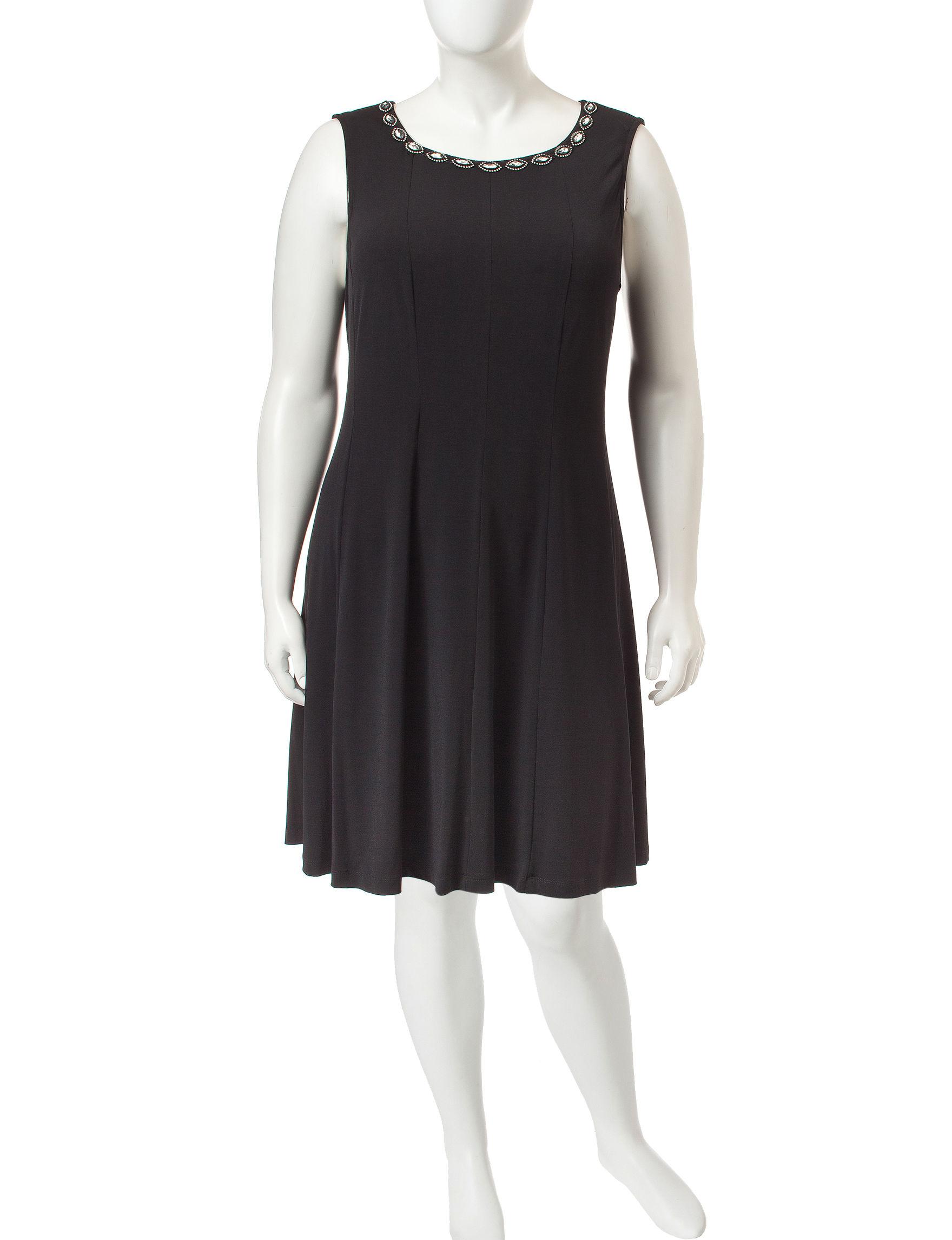 Connected Black A-line Dresses