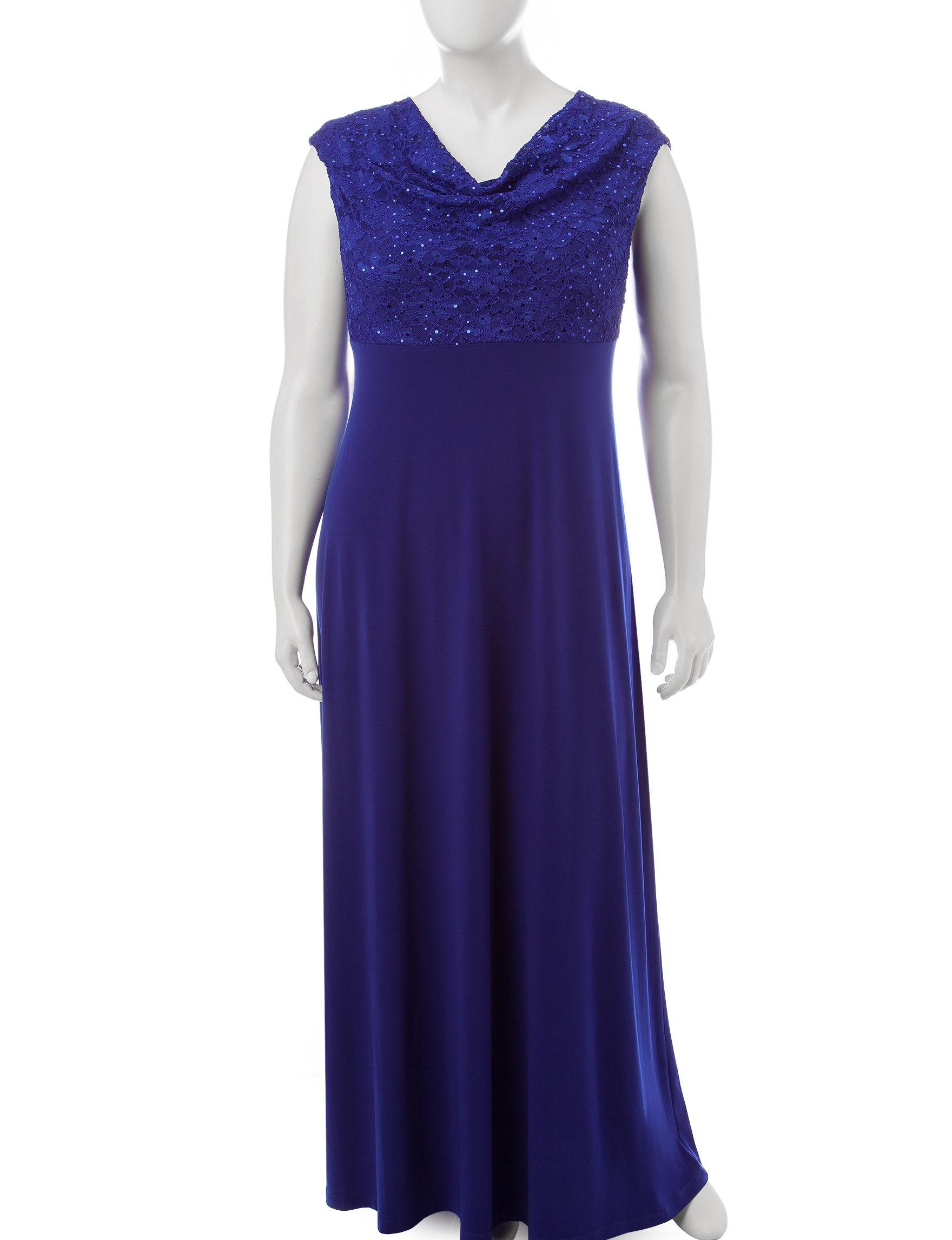Connected Blue A-line Dresses