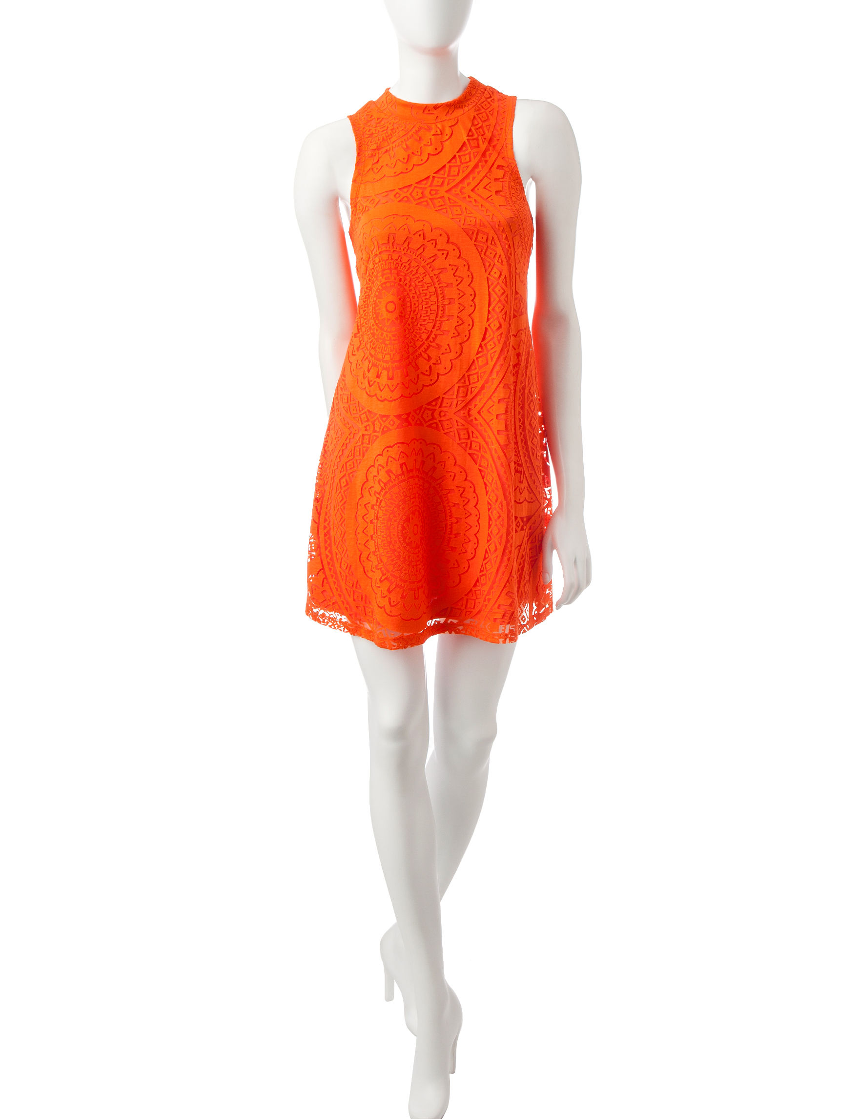 My Michelle Coral Shift Dresses
