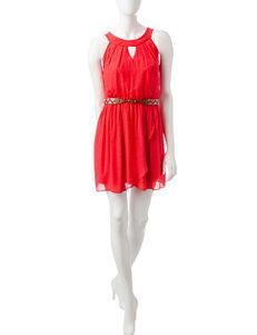 A. Byer Orange Shift Dresses