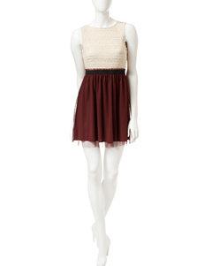 Speechless Ivory Shift Dresses