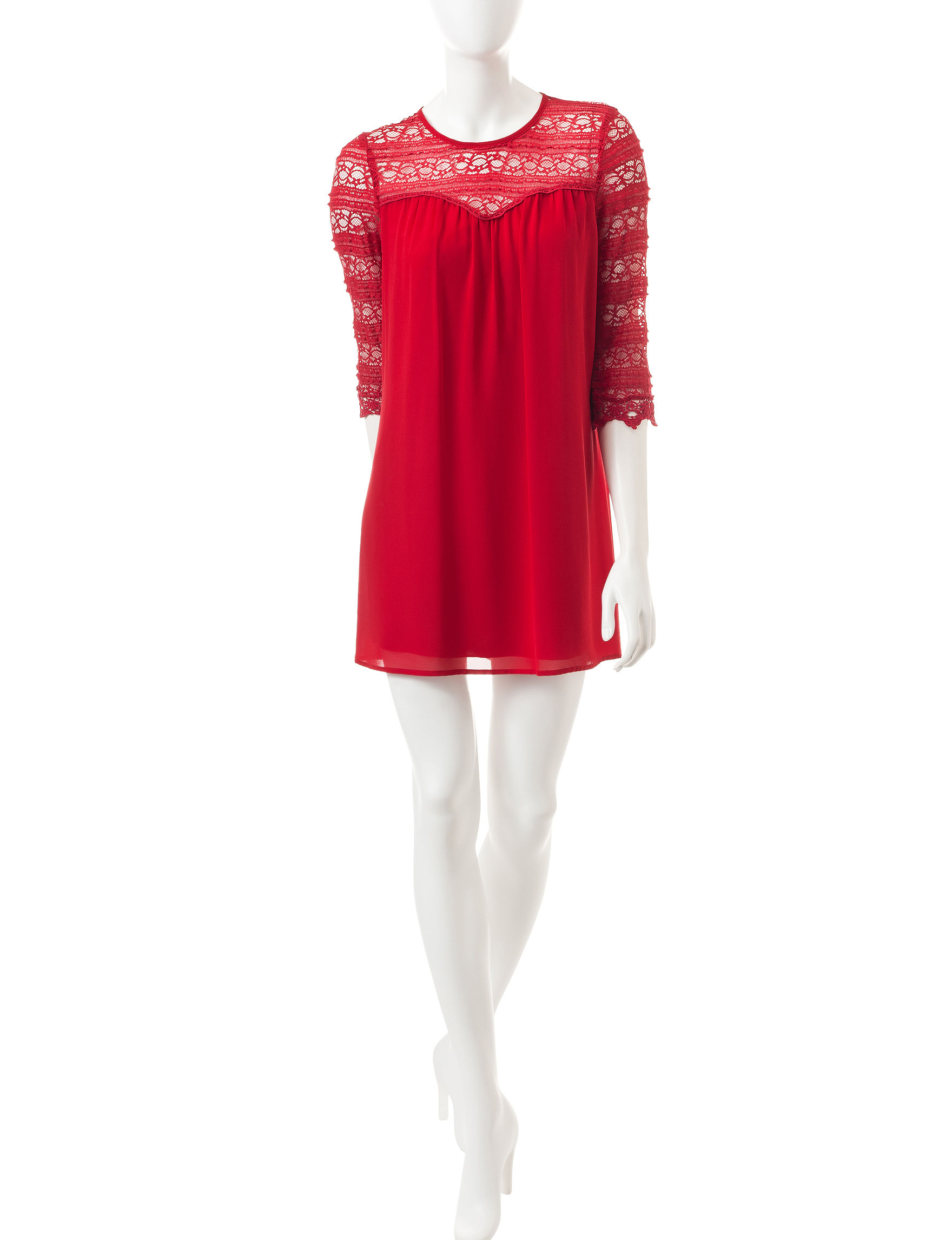 Speechless Red Everyday & Casual Shift Dresses
