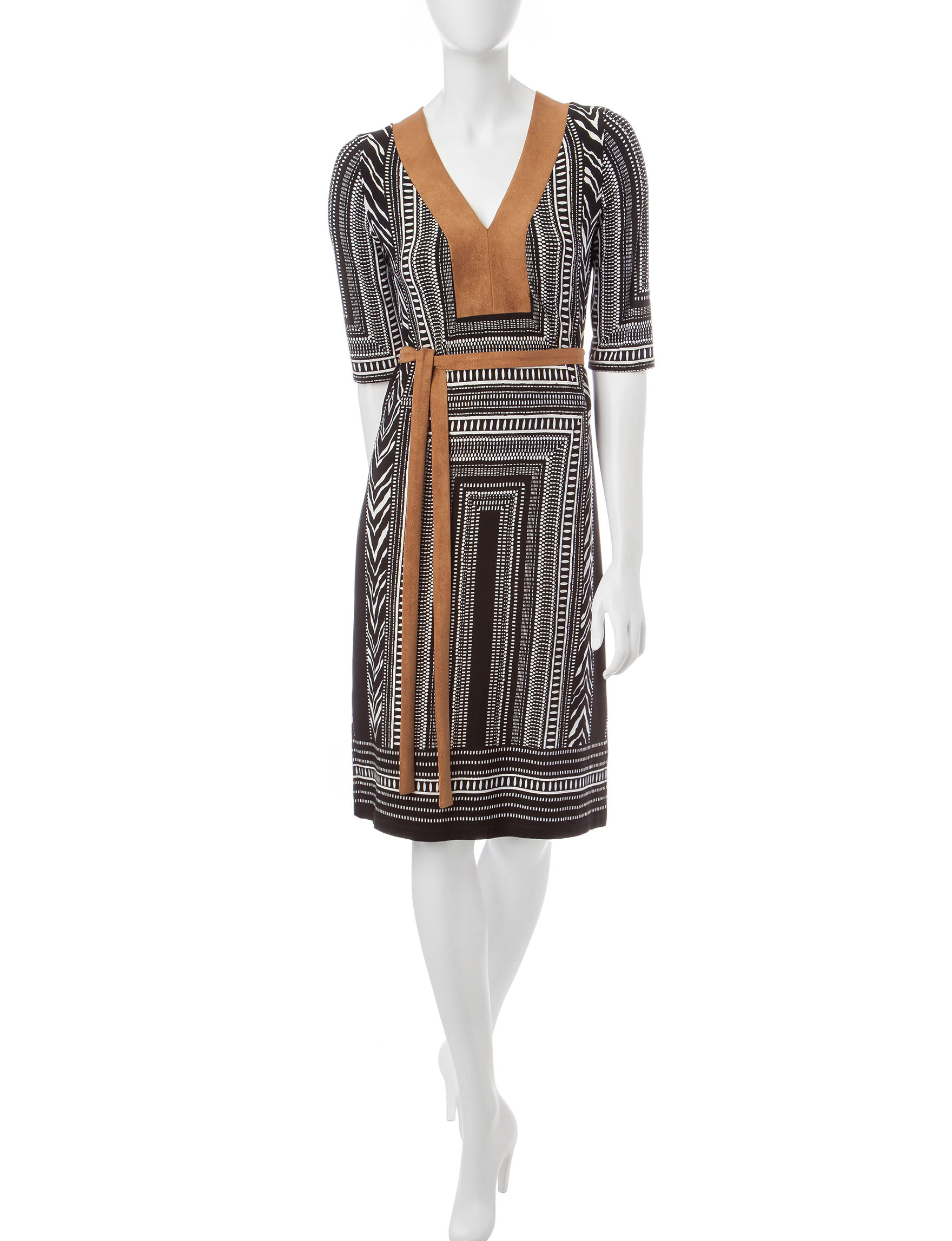 Robbie Bee Black A-line Dresses