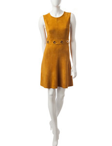 Spense Mustard A-line Dresses