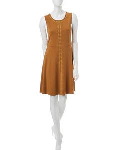 Spense Yellow A-line Dresses