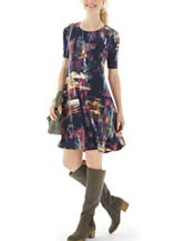 Lennie Multicolor Abstract Print Dress