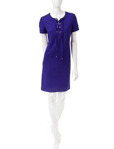 Ronni Nicole Purple Everyday & Casual Shift Dresses