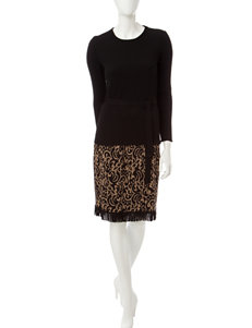Lennie Brown Everyday & Casual Sweater Dresses