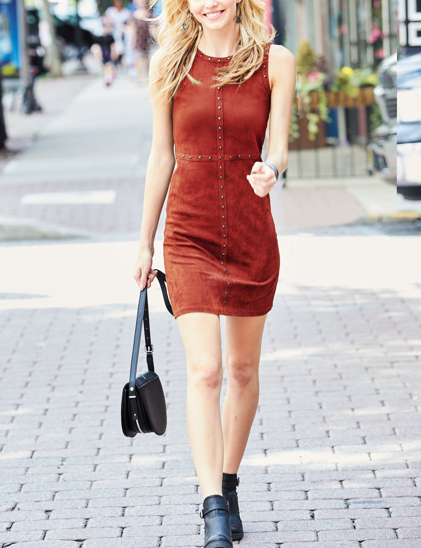 Spense Red Sheath Dresses