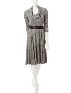 Robbie Bee Charcoal Everyday & Casual Sweater Dresses
