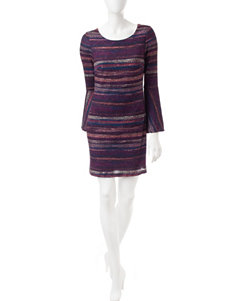 Robbie Bee Purple Everyday & Casual Sweater Dresses