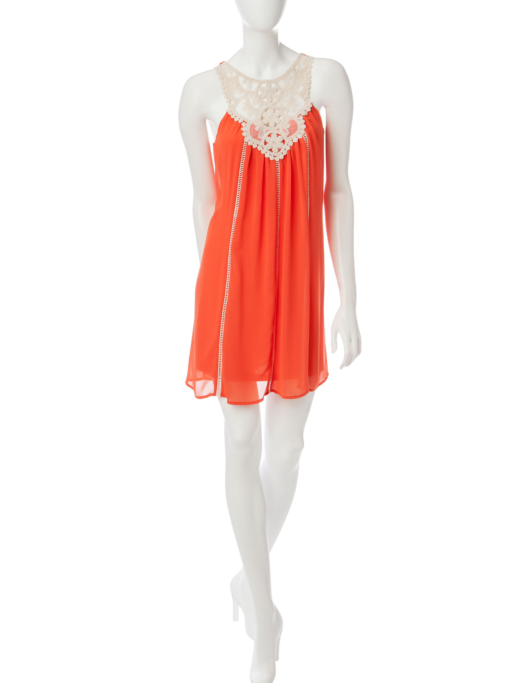 My Michelle Orange Everyday & Casual Shift Dresses