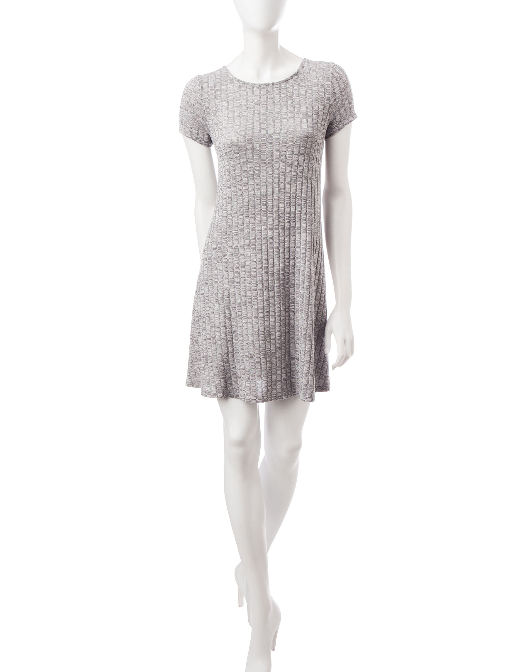 Fire Heather Grey Shift Dresses