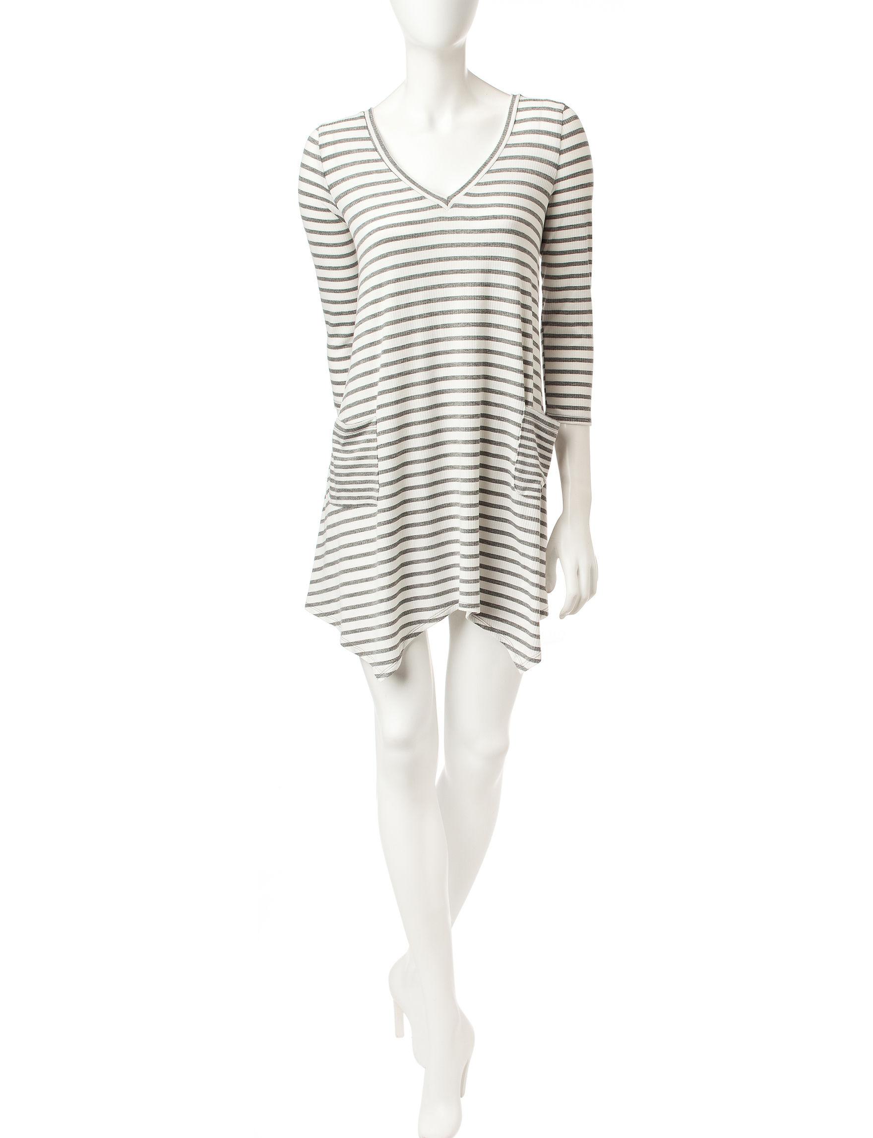 Trixxi Grey Shift Dresses