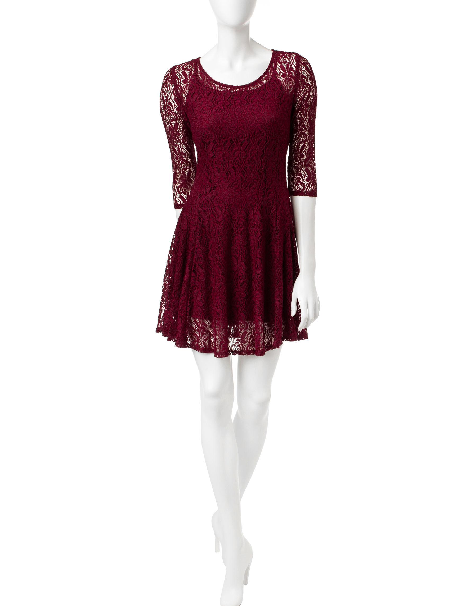 BeBop Red Fit & Flare Dresses