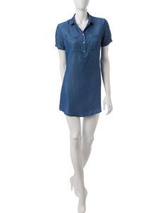 Heart Soul Blue Shirt Dresses