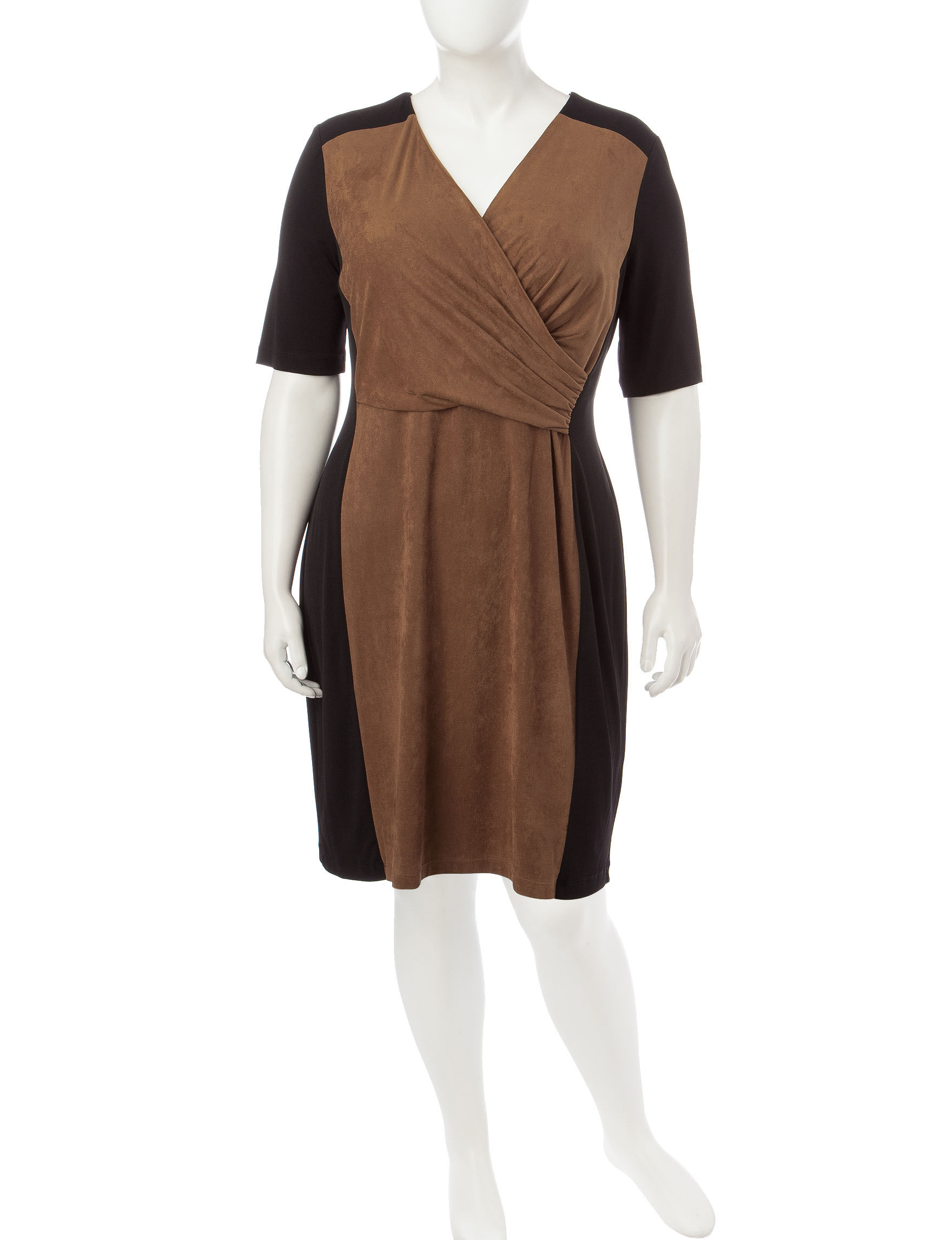 Connected Cognac Everyday & Casual Shift Dresses