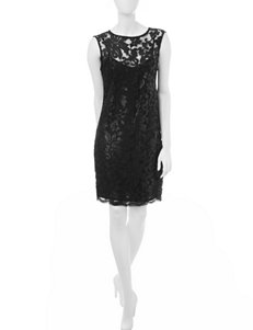 Studio 1 Black Sequin Sheath Dress