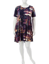 Lennie Plus-size Multicolor Abstract Dress