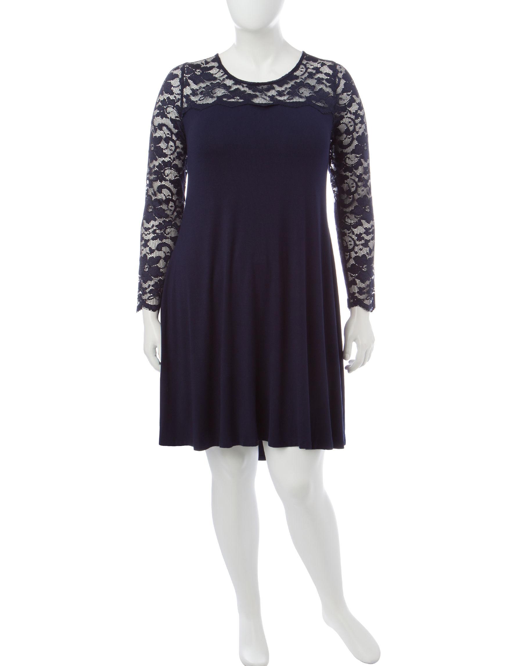 Lennie Navy Shirt Dresses