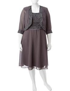 Dana Kay 2-pc. Plus-size Shimmer Jacket & Dress Set
