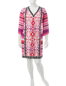 London Times Pink Everyday & Casual Shift Dresses