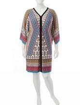 London Times Plus-size Paisley Print Shift Dress