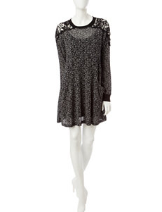 Trixxi Black / White Everyday & Casual Sweater Dresses