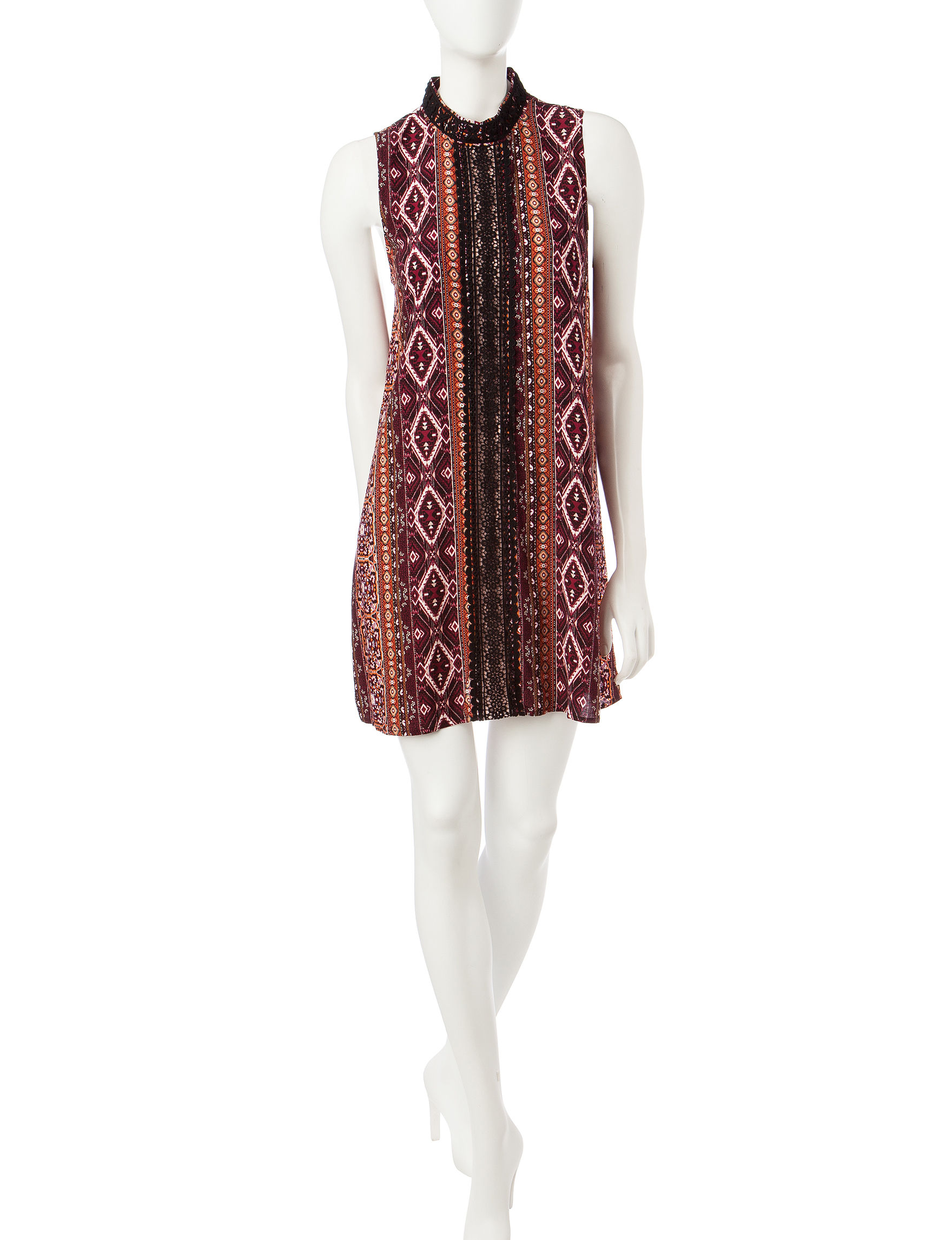 Trixxi Burgundy Everyday & Casual Shift Dresses