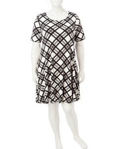 Lennie Plus-size Multicolor Abstract Print Dress