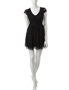 Speechless Black Fit & Flare Dresses