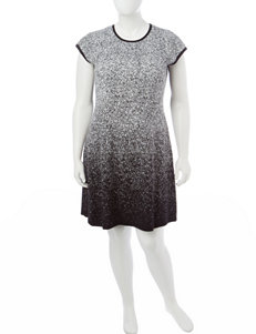 London Times Black / Ivory Everyday & Casual A-line Dresses