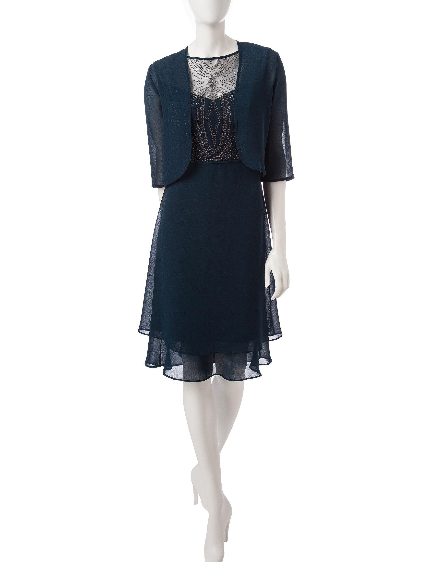 Dana Kay Teal Evening & Formal Jacket Dresses