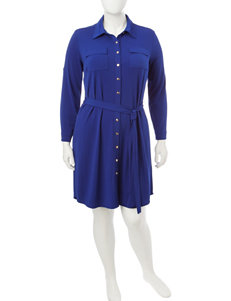 Glamour Plus-size Belted Dress
