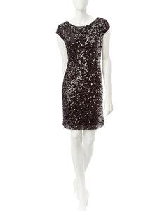 S.L. Fashions Black Sheath Dresses