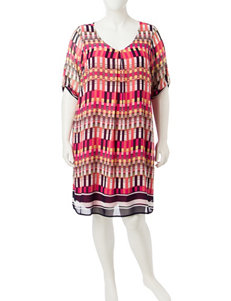 Glamour Plus-size Chiffon Tunic Dress