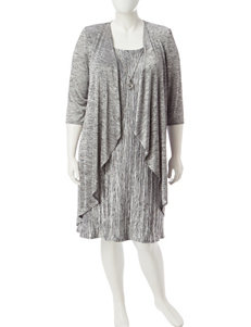 R & M Richards 2-pc. Plus-size Melange Cascade Jacket & Dress Set