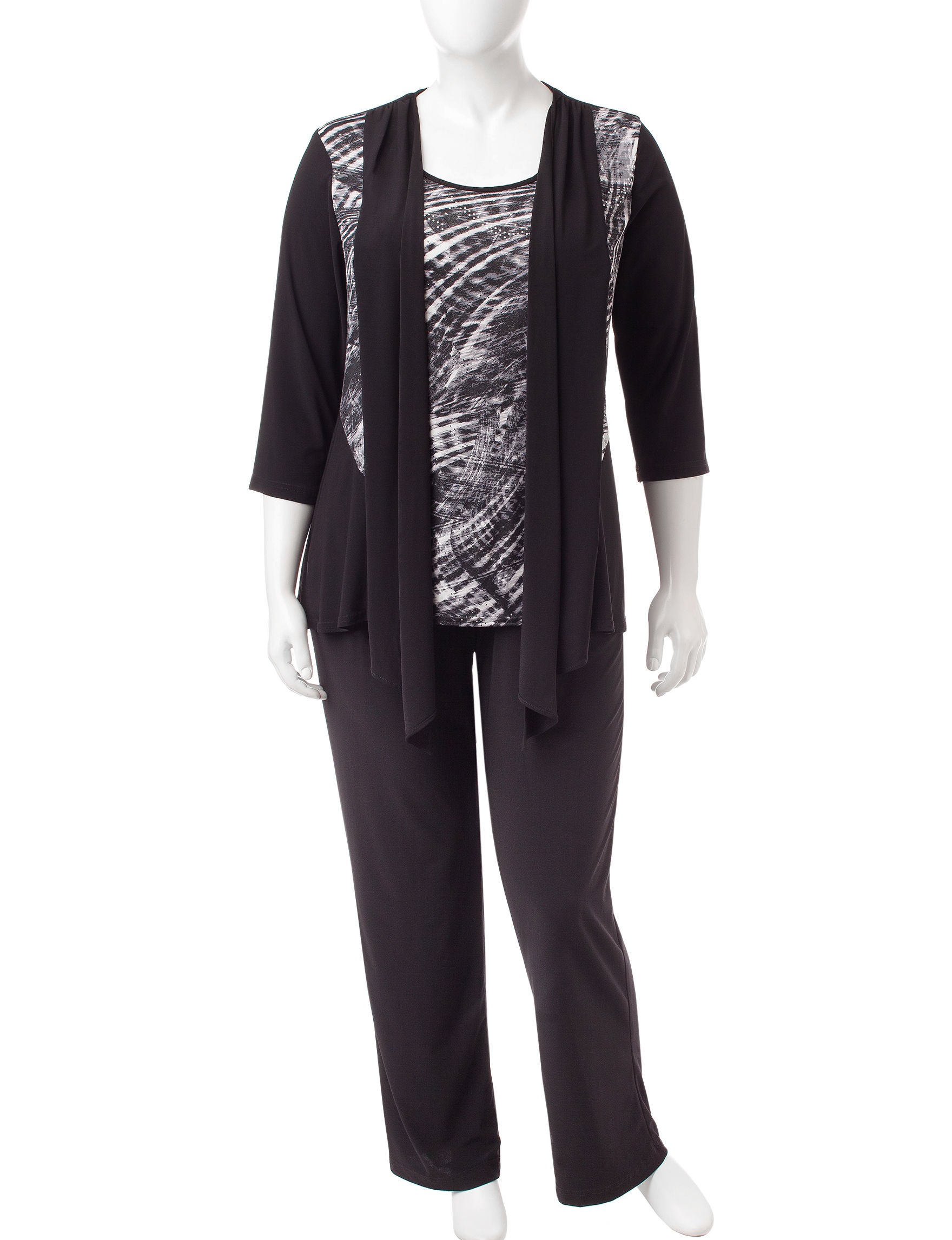R & M Richards Black / Silver Everyday & Casual