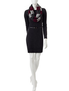 A. Byer Grey Everyday & Casual Sweater Dresses