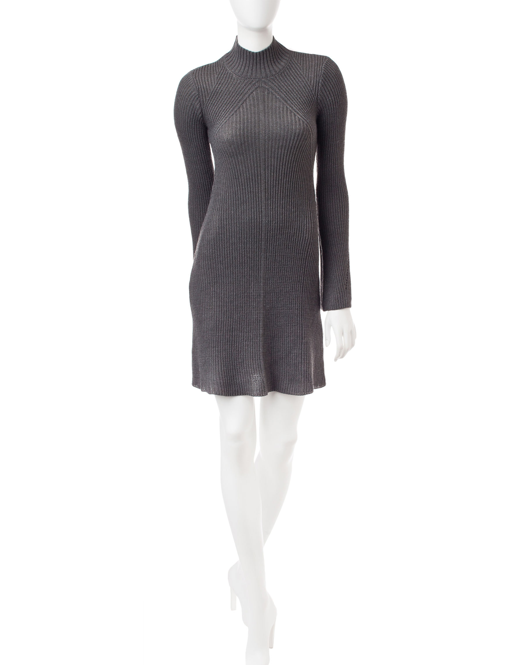 My Michelle Grey Everyday & Casual Sweater Dresses