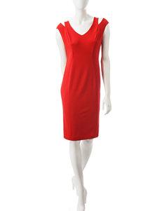 Ronni Nicole Red Everyday & Casual Sheath Dresses