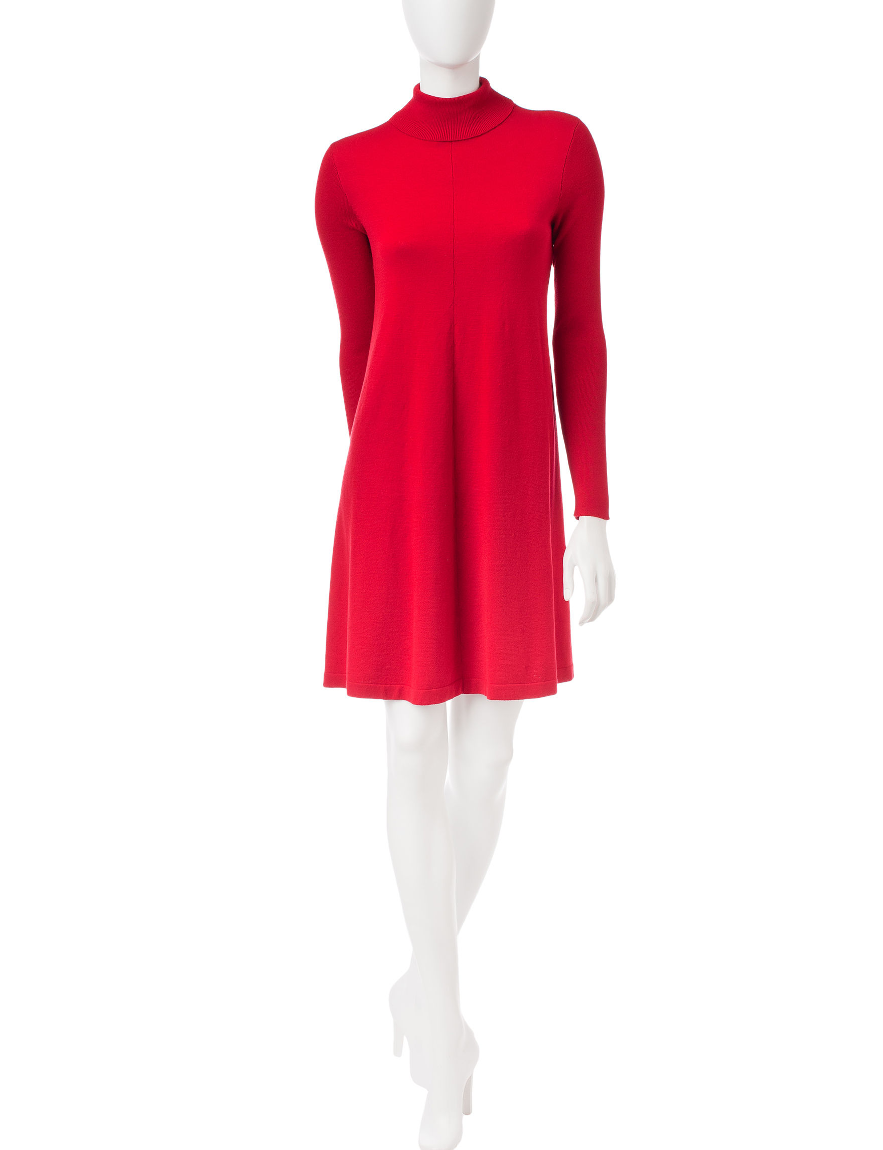 A. Byer 07 Red Everyday & Casual Sweater Dresses