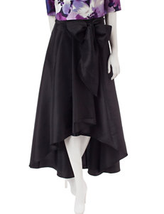 Sangria Black High-low Hem Taffeta Skirt