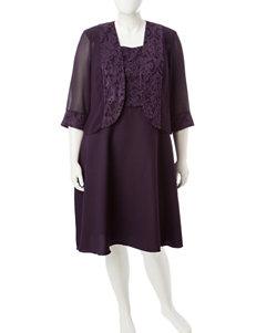 Dana Kay Purple Jacket Dresses