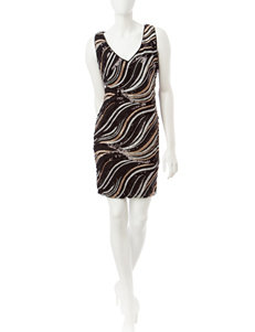 S.L. Fashions Black Everyday & Casual Sheath Dresses