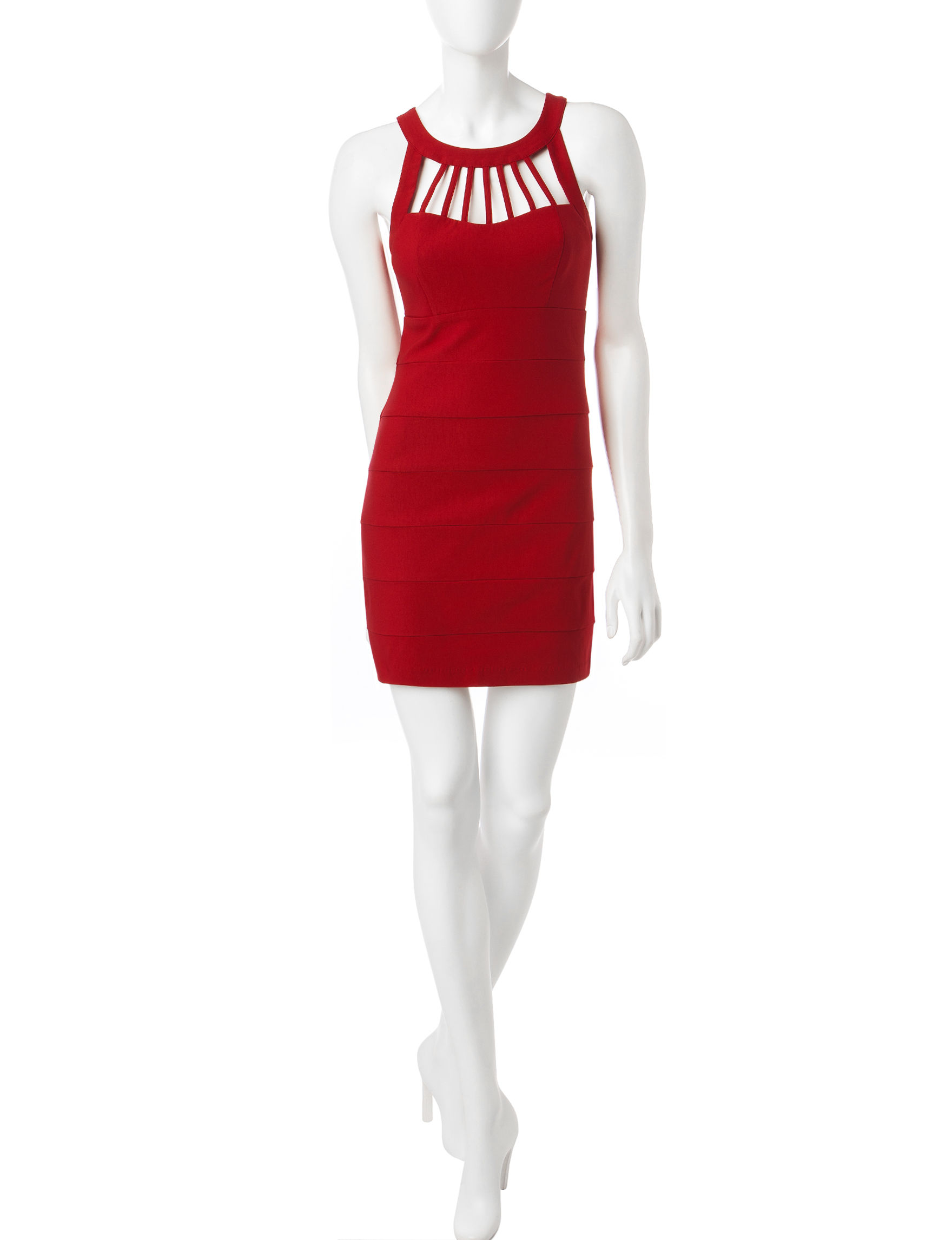 Trixxi Red Cocktail & Party Sheath Dresses