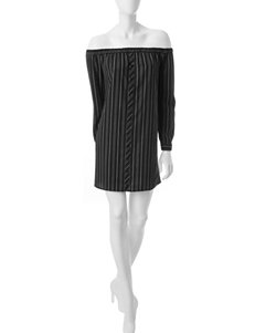 Fire Black /  White Everyday & Casual Shift Dresses